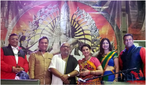 L to R: Mr. Nilesh Pathak (President, VCCI), Mr. Tushar Unadkat (CEO, MUKTA Advertising), Shree Atul Purohit, Ms. Tejal Amin (Founder, VM), Ms. Deepa Pathak and Mr. Amit Pathak (Founders, Be United)