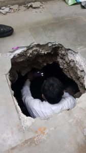 Robbers dig 25 ft tunnel and loot lockers at Bank of Baroda