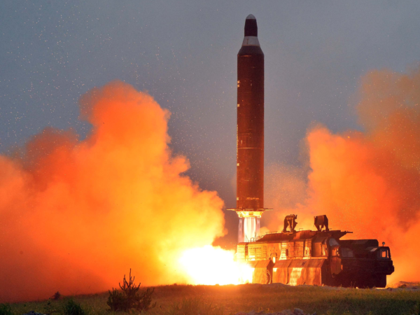 North Korea now a nuclear state. Launches the longest range missile