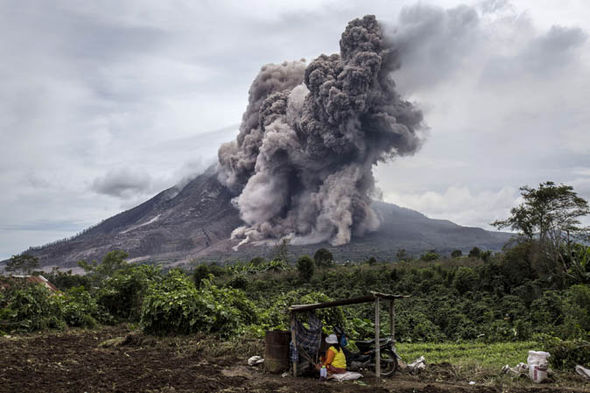 Volcanic eruptions left thousands of people stranded in Bali, Indonesia